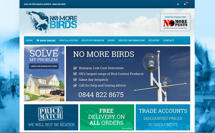 No More Birds Launch New Website